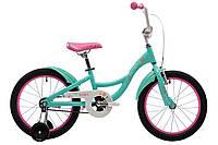 """Детский двухколесный велосипед 18"""" Pride Amelia 2017 ТМ PRIDE Мятно-розовый SKD-85-58"""