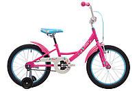 """Детский двухколесный велосипед 18"""" Pride Mia 2017 ТМ PRIDE Малиновый/белый/голубой SKD-15-62"""
