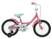 """Детский двухколесный велосипед 16"""" Pride Miaow 2018 ТМ PRIDE Розовый/мятный SKD-78-27"""