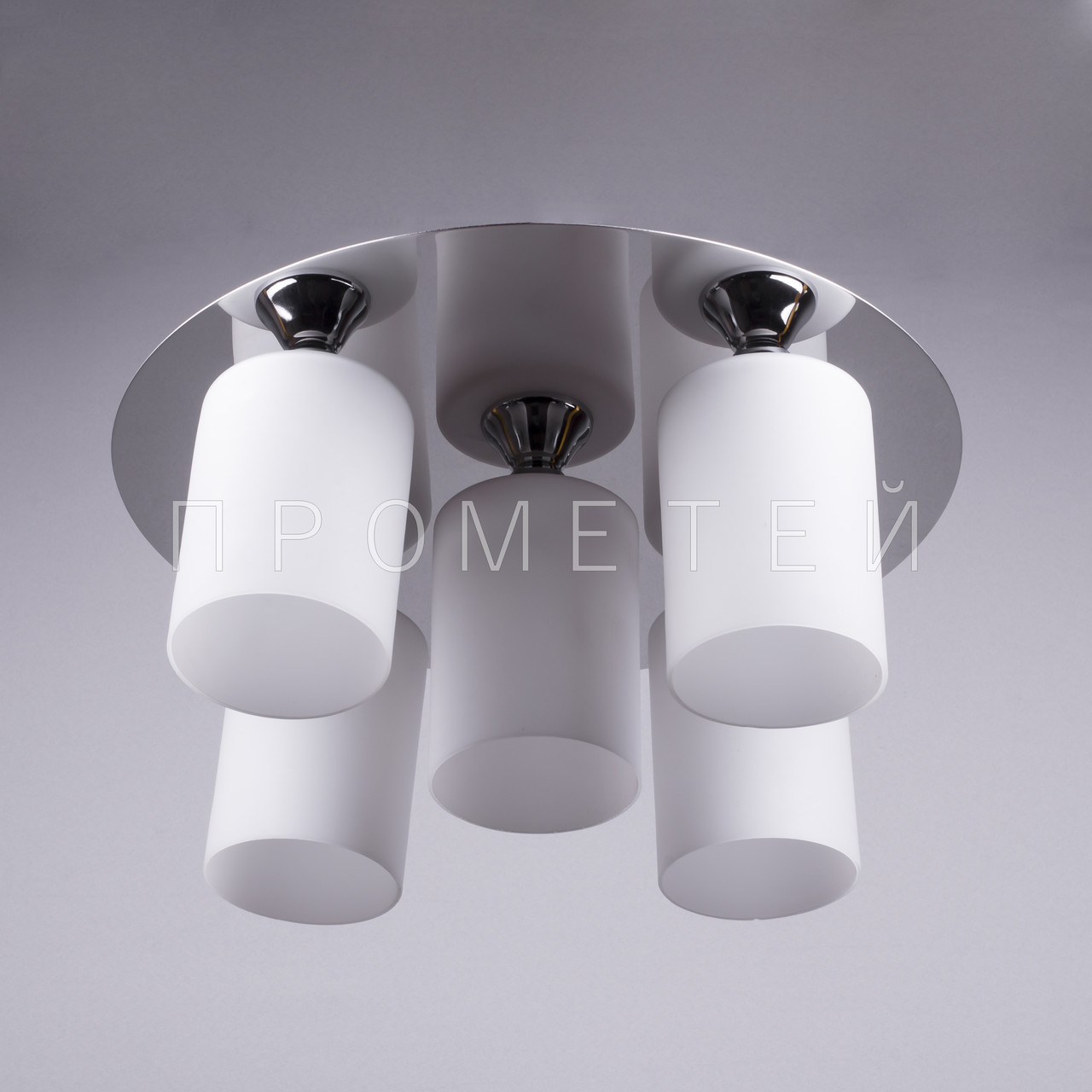 Люстра на 5 лампочок (хром) P3-11629A/5/CR+MK