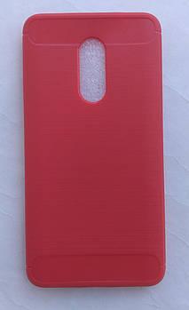 Силиконовый чехол Carbon для Xiaomi Redmi Note 4x красный