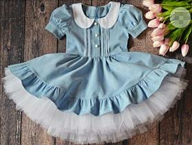 Дитяче плаття бавовняне, фатиновый під'юпник