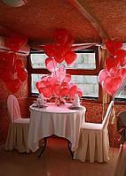 """Воздушный шарик сердце красное с рисунком """"Я тебя люблю"""""""
