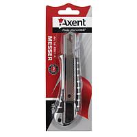 Нож канцелярский металлический большой Axent ExaktPRO, лезвие 18мм