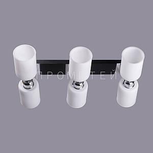 Люстра на 6 лампочек (черная) P3-3712/6/DK+MK