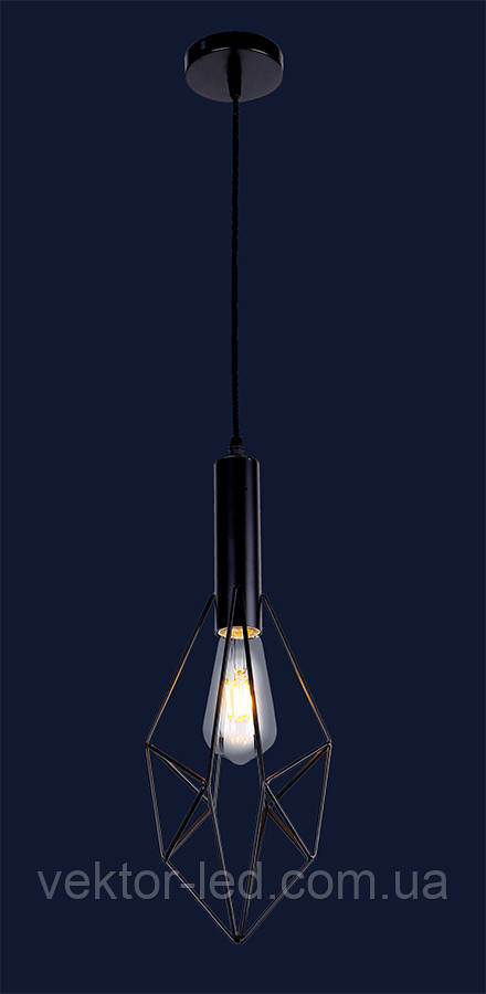Светильник подвесной LOFT L521205-1 BK