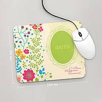 Коврик для мыши средний с фото С Днем Рождения, Рамка, №3