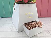 Коробочка для цветов с выдвижным ящечком