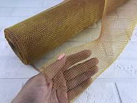 Сетка флористическая 900/50 см хамелеон горчичная