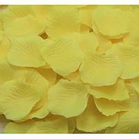 Лепестки роз разные цвета 200 гр Желтый