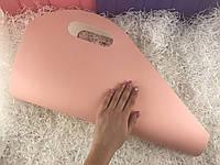 Пакет для цветов под руку (розовый) (набор из 10 шт)