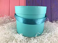 "Мятная шляпная коробка ""Лента"" (набор из 3 шт)"