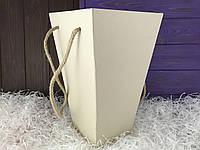 Флористическая коробка (молочная)