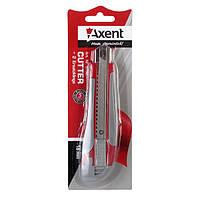 Нож канцелярский большой Axent 6702, лезвие 18 мм + 2 запасных
