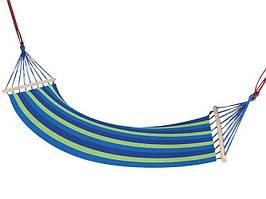 Гамак мексиканський з поперечними планками синій 83x200 см