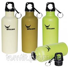 Бутылка (фляга), для воды, металлическая ТМ Toscana, разные цвета