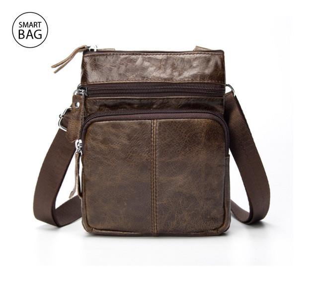 Небольшая мужская кожаная сумочка на плечо Marrant стала доступна в цвете lite coffee