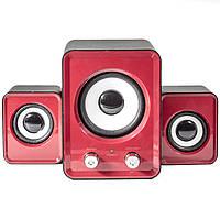Колонки OFNOTE YD-UP красные глубокий бас музыкальные с USB jack 3.5 для компьютера ноутбука планшета стерео