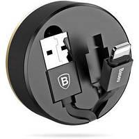USB кабель iРhone Lightning Baseus (CALEP-01) New Era Telescopic черный, фото 1