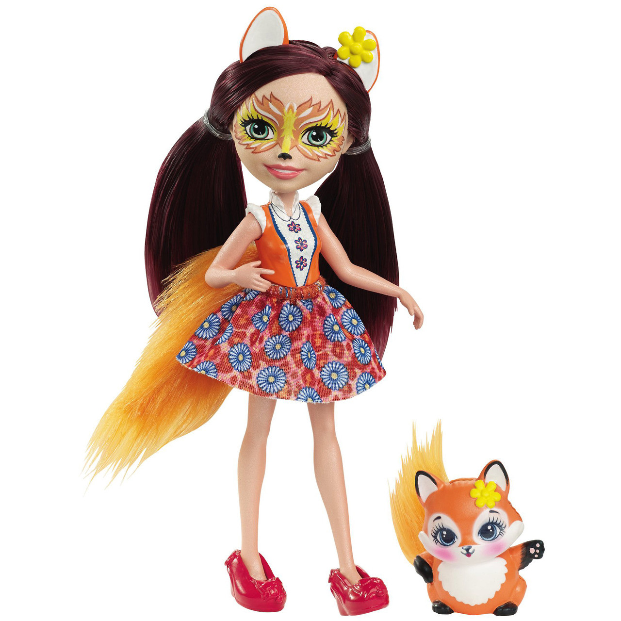 Лялька Энчантималс Лисичка Фелісіті і лисенек Флік / Enchantimals Felicity Fox and Flick