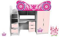 Кровать комната чердак Карета для девочки