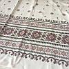 Ткань рогожка с украинским орнаментом с имитацией вышивки крестиком, ширина 150 см