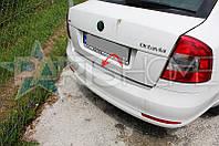 Накладка на задний бампер Skoda Octavia A5