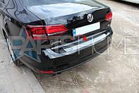 Накладка на задний бампер VW Jetta 2010-2015