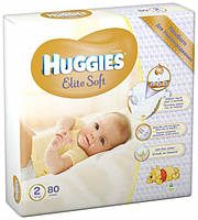 Подгузники Huggies Elite Soft Newborn 2 (80шт.) 4-7 (Хаггис Элит Софт)