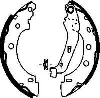 Колодки барабанные задние 203x38 Kangoo  KAMPOL