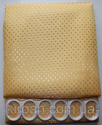 Шторка для ванной,тканевая с пропиткой, однотонная желтая 180х180 см, фото 2