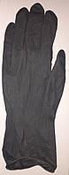 Одноразовые перчатки для покраски волос из латекса черные. Размер L