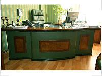 Стол руководителя Antares Зеленый (Диал ТМ)