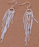 Серьги Tiffany (TF51). Покрытие серебром 925
