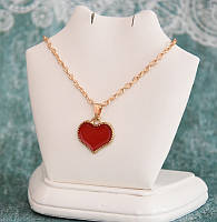Кулон на цепочке Сердечко цвет красный (tb505)