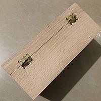 Шкатулка-заготовка из дерева. Куфр. 25х12.5см. С замком и петельками.
