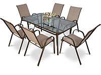 Комплект Садовой Мебели Большой Стол 6 Стульев