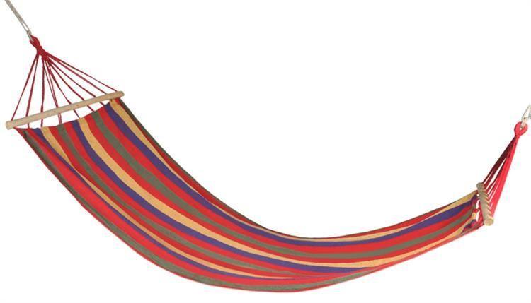 Гамак мексиканський з поперечними планками червоний 83x200 см