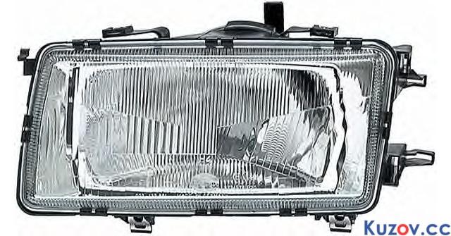 Фара Audi 80 B3 86-91 левая (Depo) механич./электрич. 1307090E 893941029
