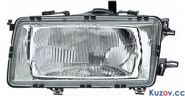Фара Audi 80 B3 86-91 левая (Depo) механич./электрич. 1307090E 893941029, фото 2
