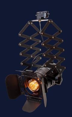 Подвесной прожектор светильник (трек) на пружине лофт