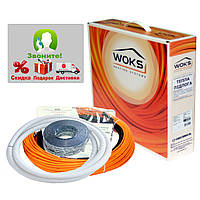 Теплый пол электрический Греющий кабель Woks-10, 1550 Вт (159м)