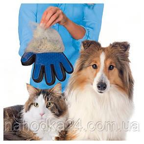 ОРИГИНАЛ! Перчатка  для ухода за шерстью питомца True Touch(Тру Тач), фото 2