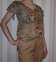 Женская блуза туника с леопардовым принтом