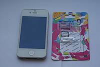 Apple iPhone 4S 8GB White Unlock R-sim 9Pro