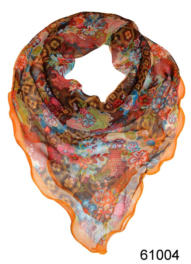 Нежный шейный платок 60*60  (61004) 1