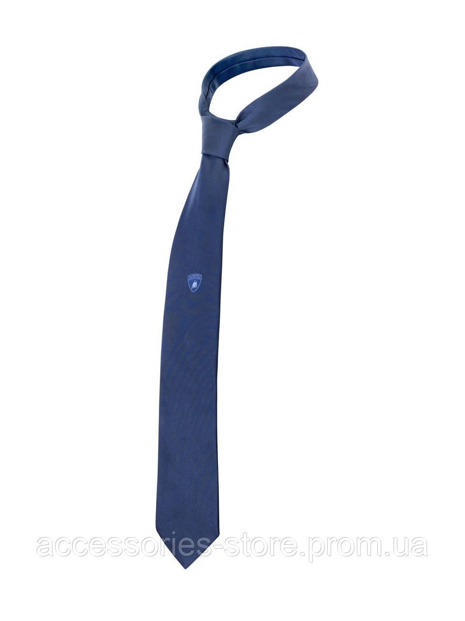 Галстук Lamborghini Classic Shield Tie, blue