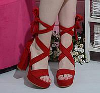 Босоножки на каблуке и платформе, фото 1