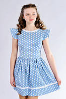 Стильное подростковое платье в горошек