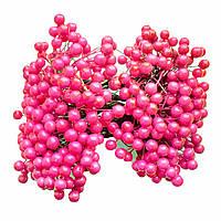 Декоративные ягоды малиновые, 8 мм, 500 шт